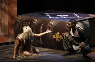 Escena de una obra de Corral Cervantes