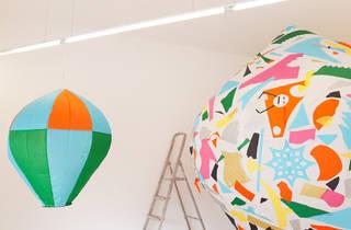 Exposição de balões de São João na Senhora Presidenta