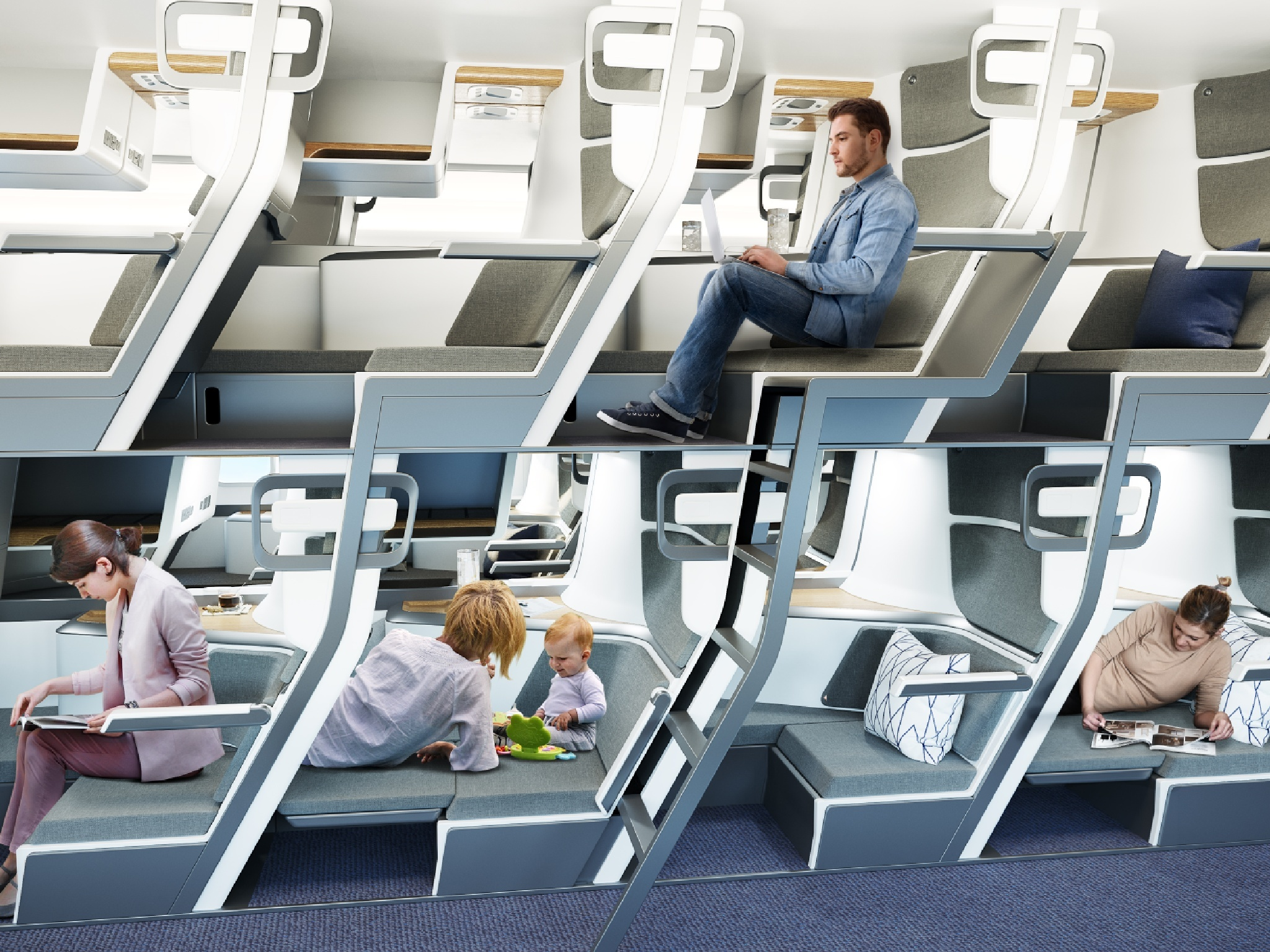 Are double-decker seats the future of air travel?