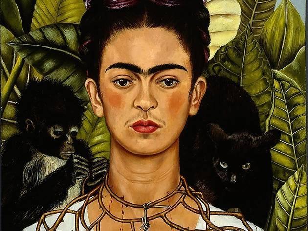 'Auto-retrato com colar de espinhos e beija-flor' (1940), Frida Kahlo