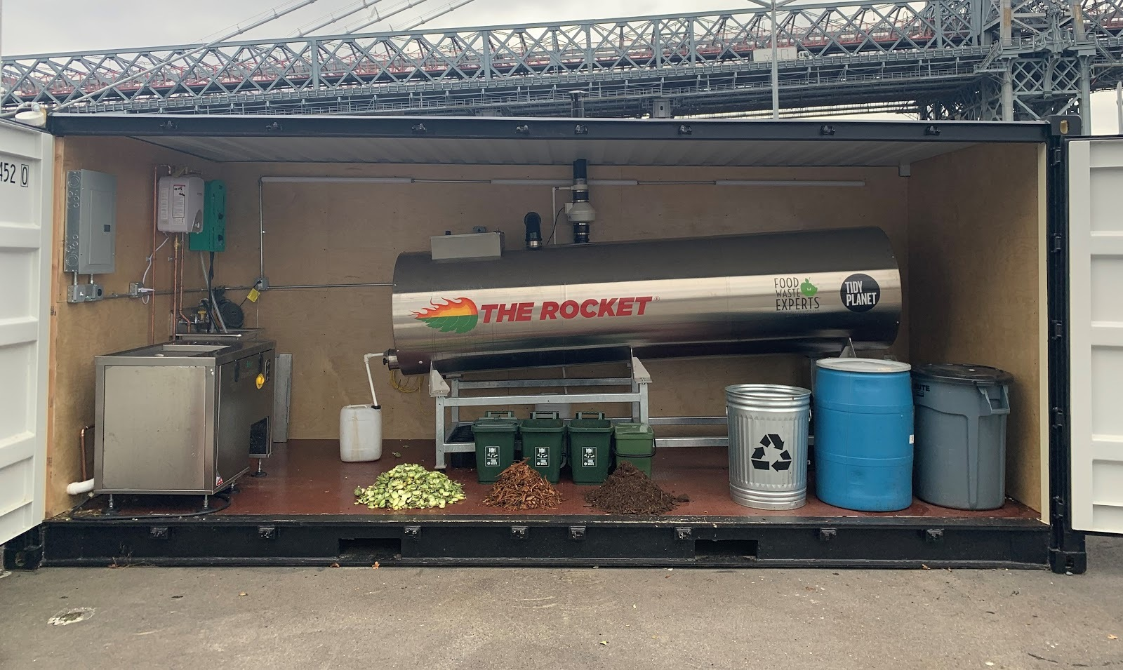"""There's now a """"rocket"""" in Domino Park that you can compost in"""