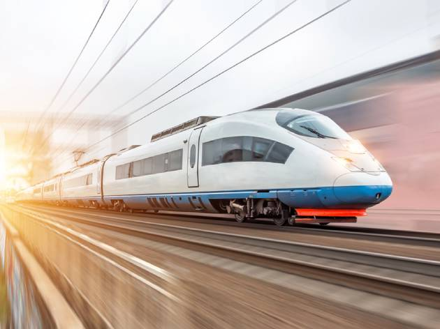 High-speed train in Europe