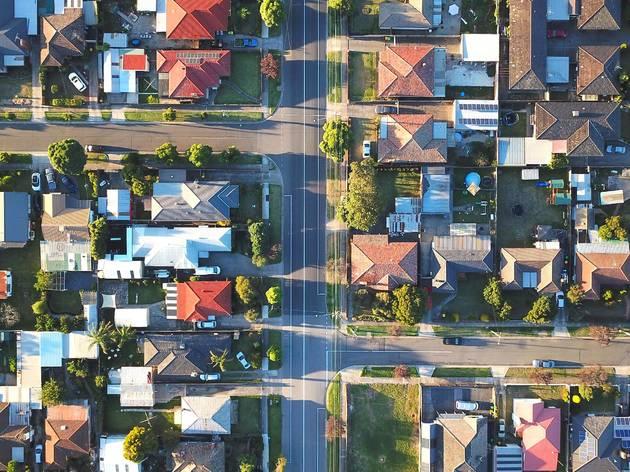 Generic suburb in Melbourne aerial