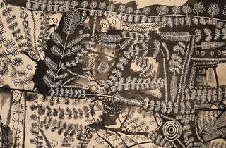 Peter Mungkuri  'Punu Ngura (Country with trees)' 2018-19  (detail)