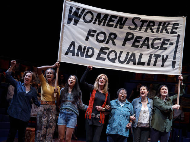 Gloria Steinem (Christine Lahti) with marchers in Gloria: A Life