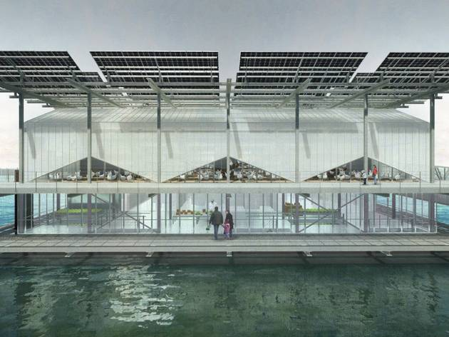 Design for floating poultry farm in Rotterdam