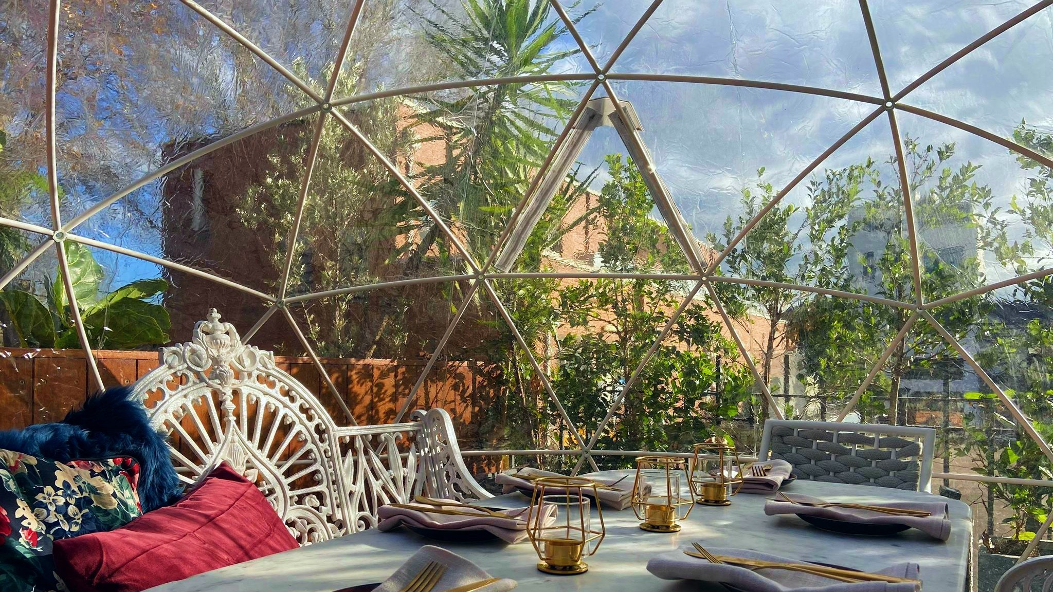 You can dine in style this winter at the Winery's laneway igloo garden