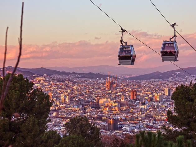 Vistes de Barcelona des del Telefèric de Montjuïc