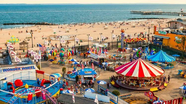 Coney Island Beach Boardwalk