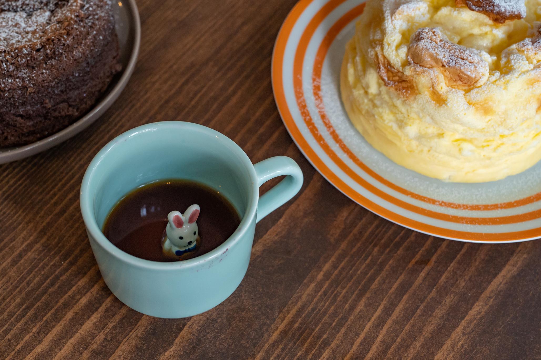 café frío con cheesecake soufflé