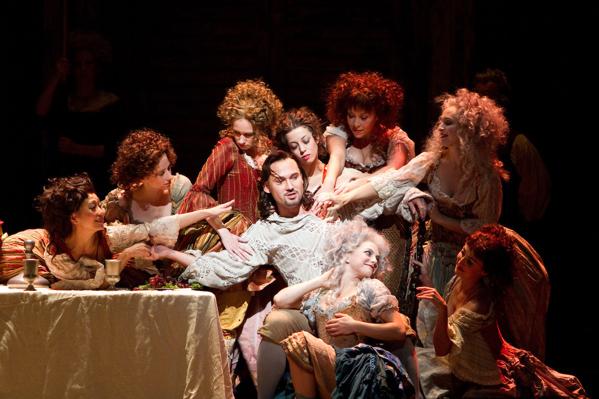"""Mariusz Kwiecien (center) in the title role of Mozart's """"Don Giovanni"""""""