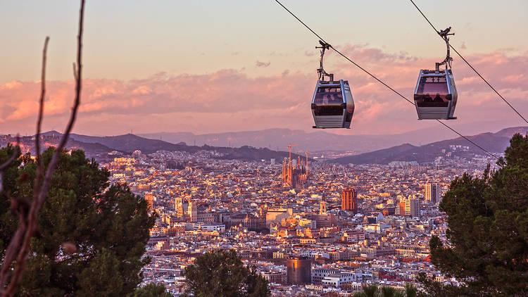 Views from Montjuïc Cable Car