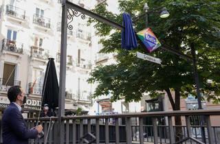 Metro Chueca logo arcoiris LGBTI