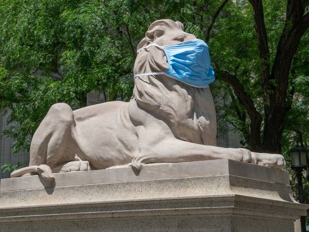 NYPL Lions face masks