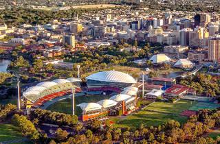 An aerial photograph of Adelaide, SA