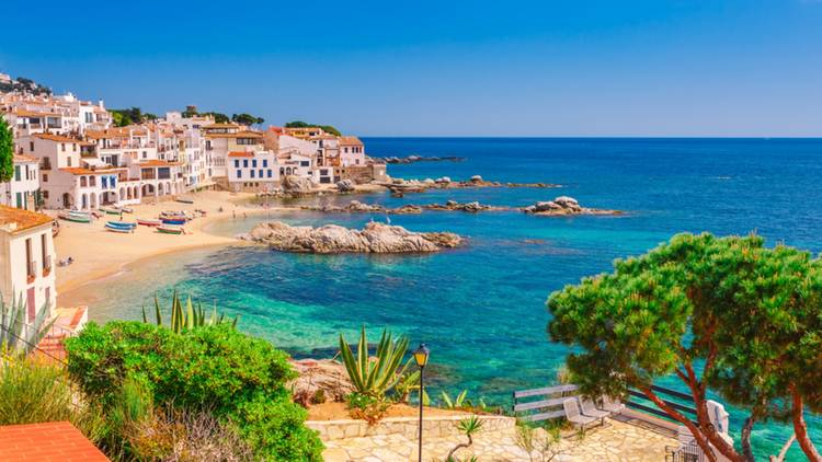 A beach in Catalonia