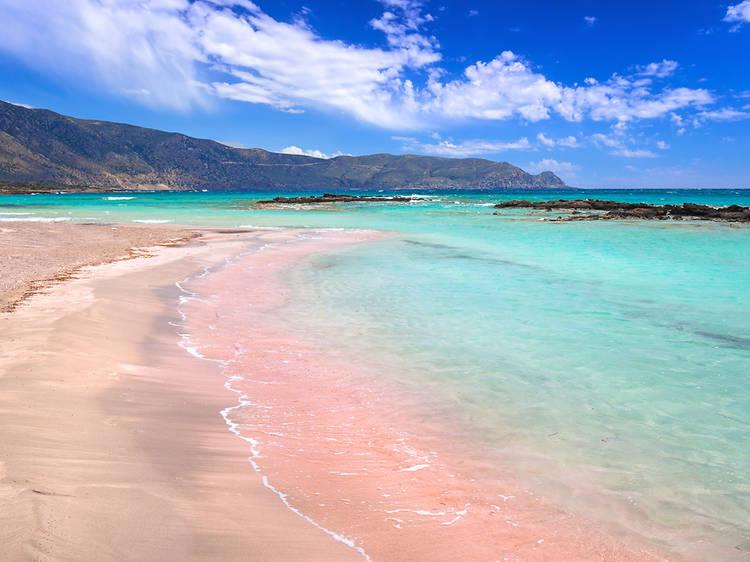 Platja Elafonissi, Creta, Grècia