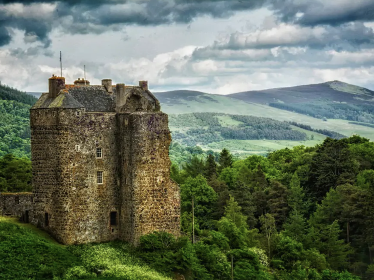 The castle on the Scottish Borders