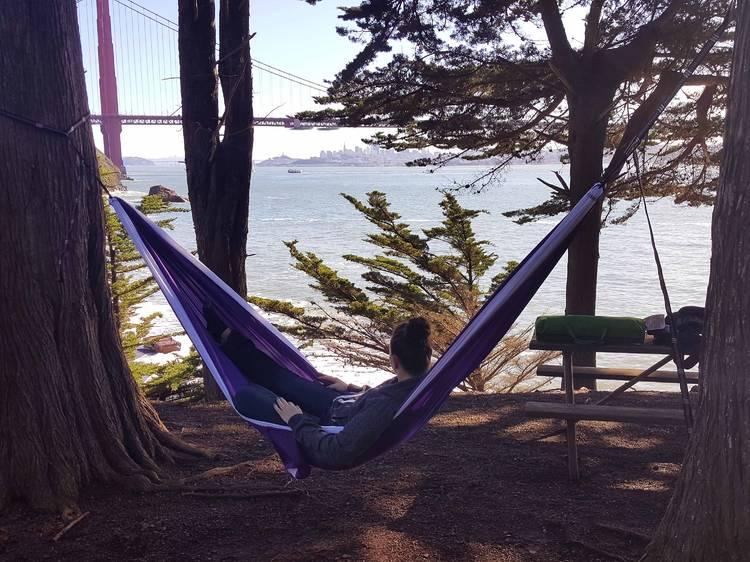 Marin Headlands, California: Kirby Cove Campground