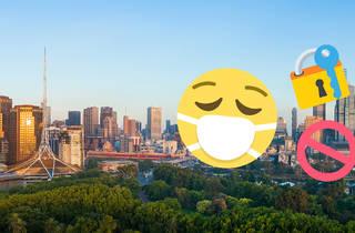 Melbourne emoji skyline