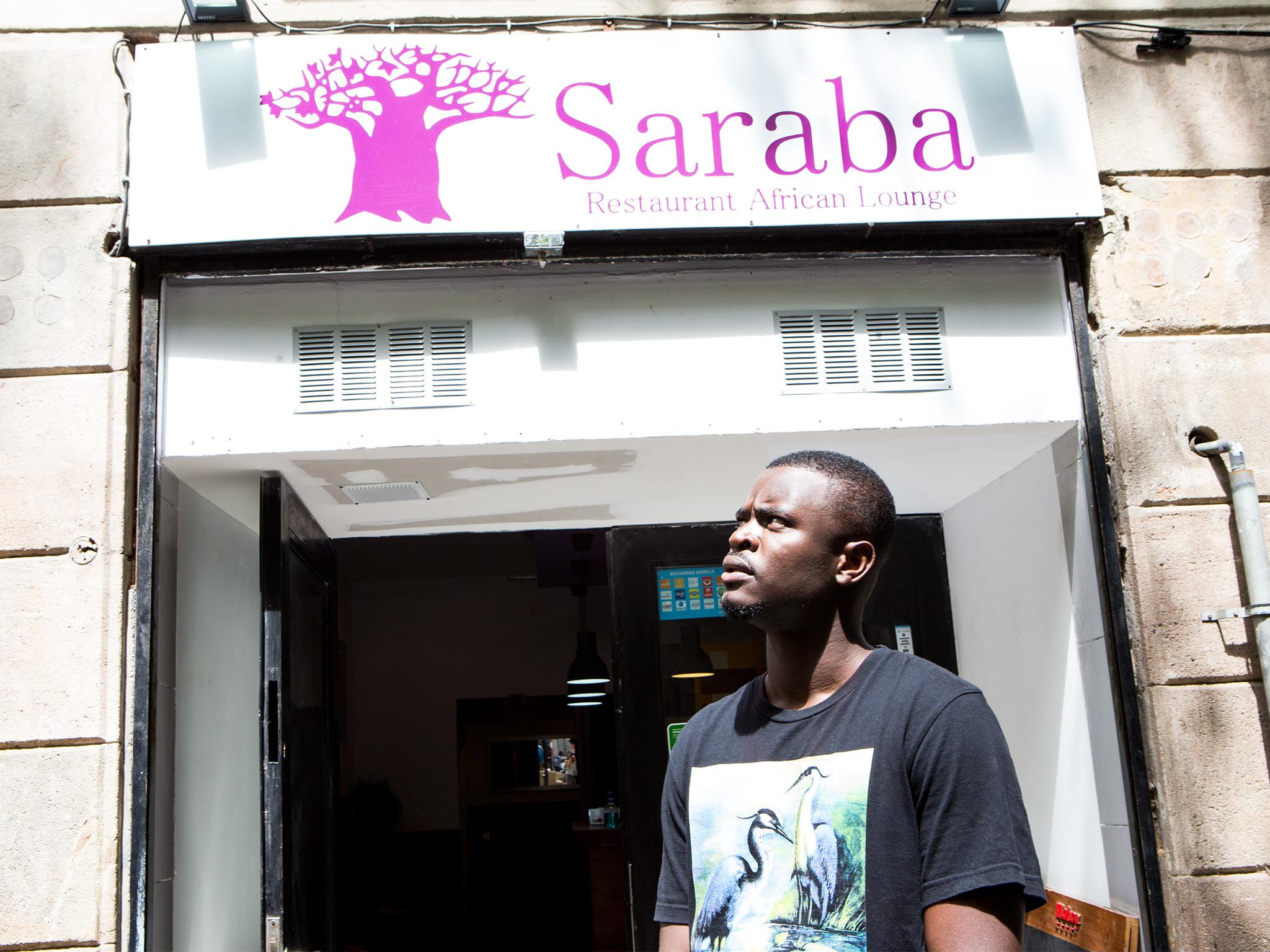 Mossa Día, Le Saraba Senegalese restaurant