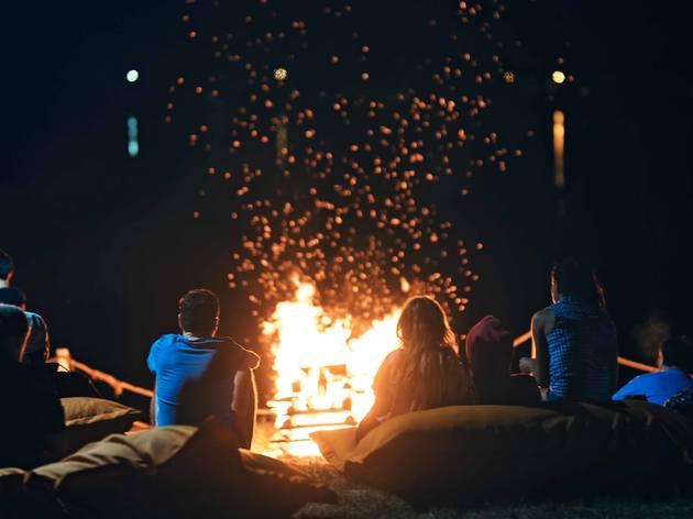 Family camping near NYC