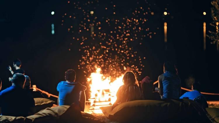 Campfire Camping Camp