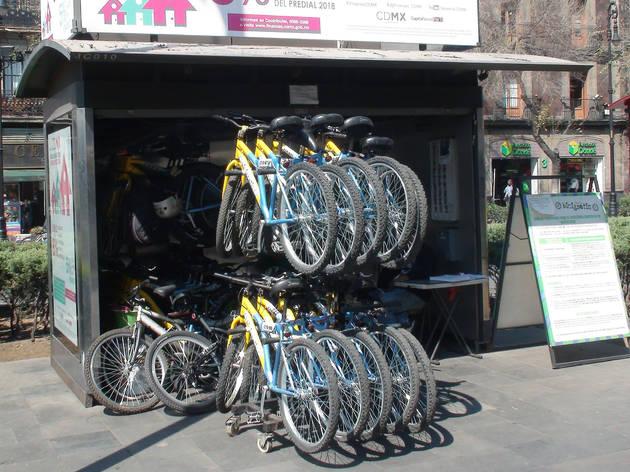 Estación de bicigratis en la CDMX