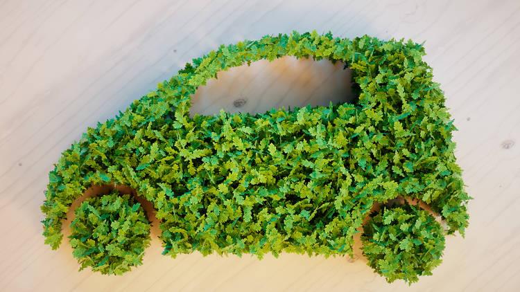 Vehículo formado con hojas