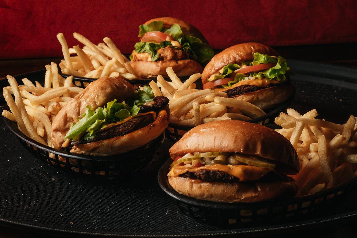 Vegan burgers and fries at Mary's Circular Quay