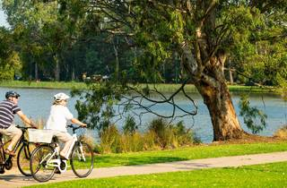 Couple cycling in Sale, Gippsland