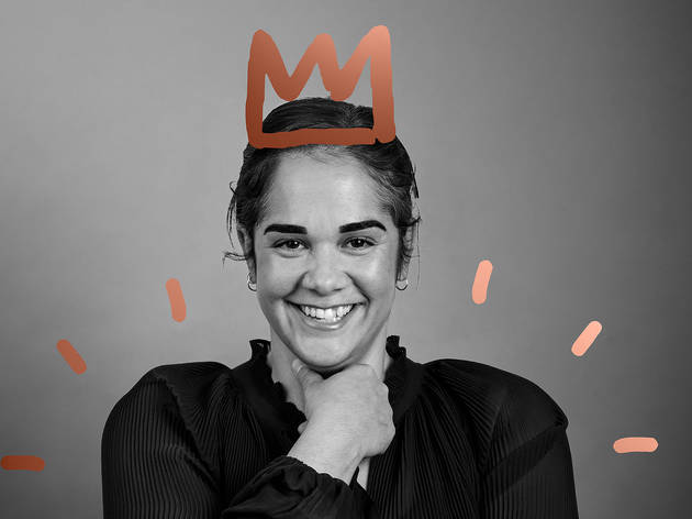 Person with a crown for Melbourne Awards