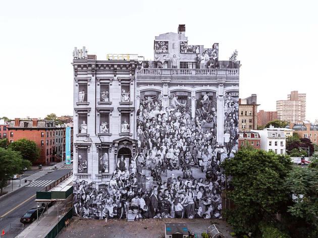 Street art, Brooklyn, New York, JR, Brooklyn Museum, The Chronicles of New York City, 80 Hanson Arts building