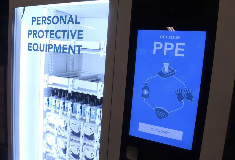 ニューヨークの地下鉄駅にPPE自動販売機が登場