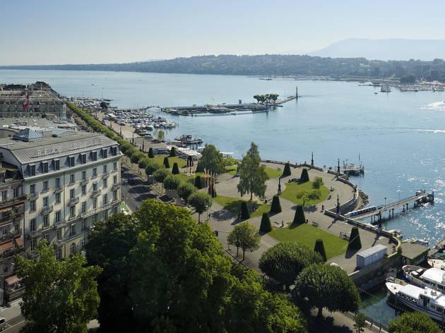 Beau-Rivage Genève, drone view