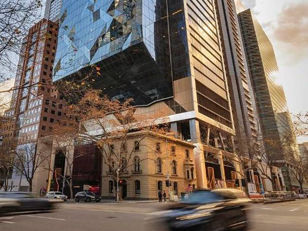 A new dining and retail precinct has opened on Collins Street