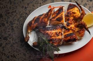 BBQ chicken at Henrietta Chicken