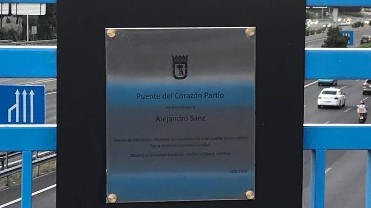 Placa Alejandro Sanz