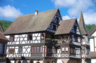 Hunspach, France village
