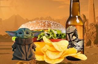yodita box con hamburguesa y cerveza
