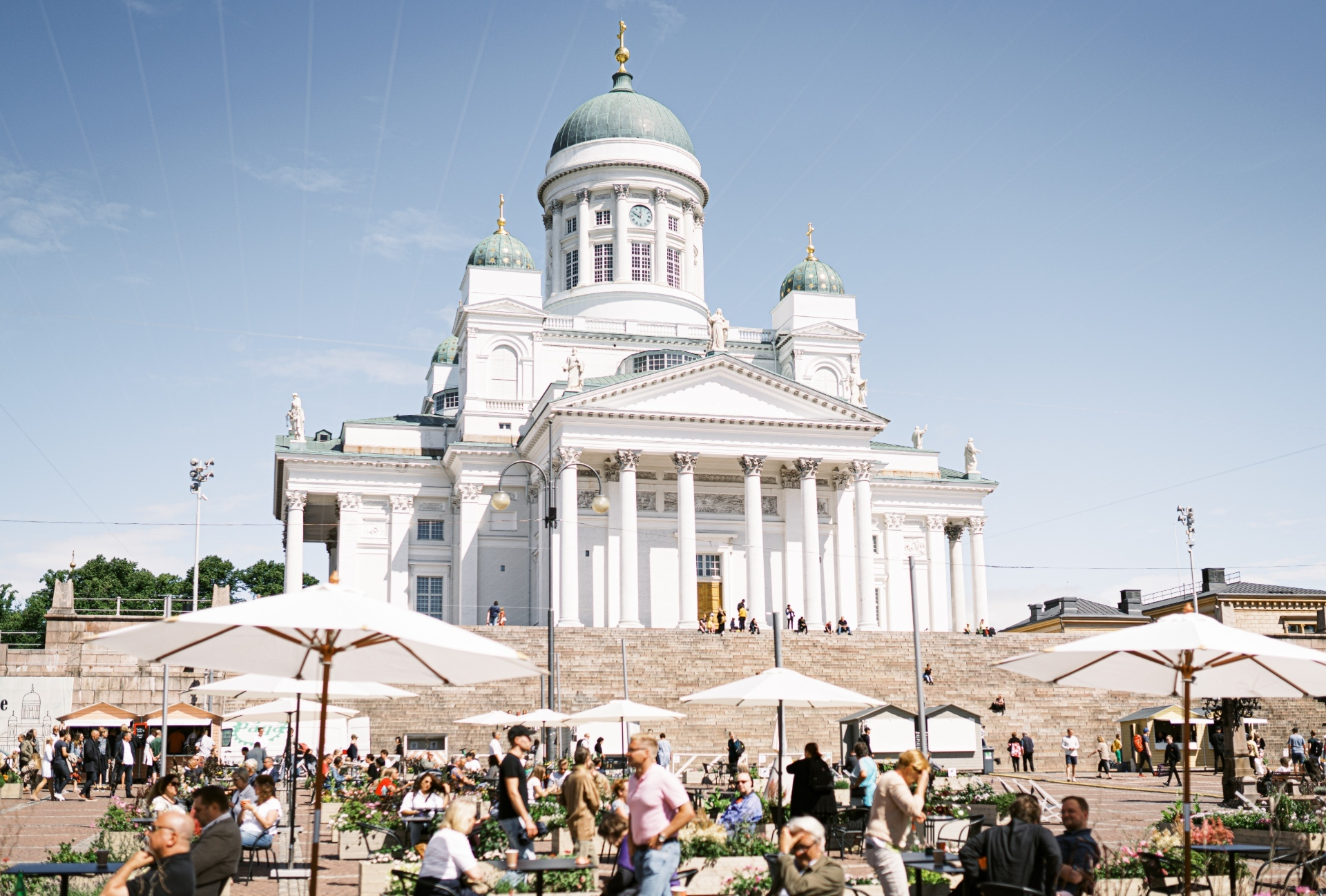 This square in Helsinki is now a huge restaurant