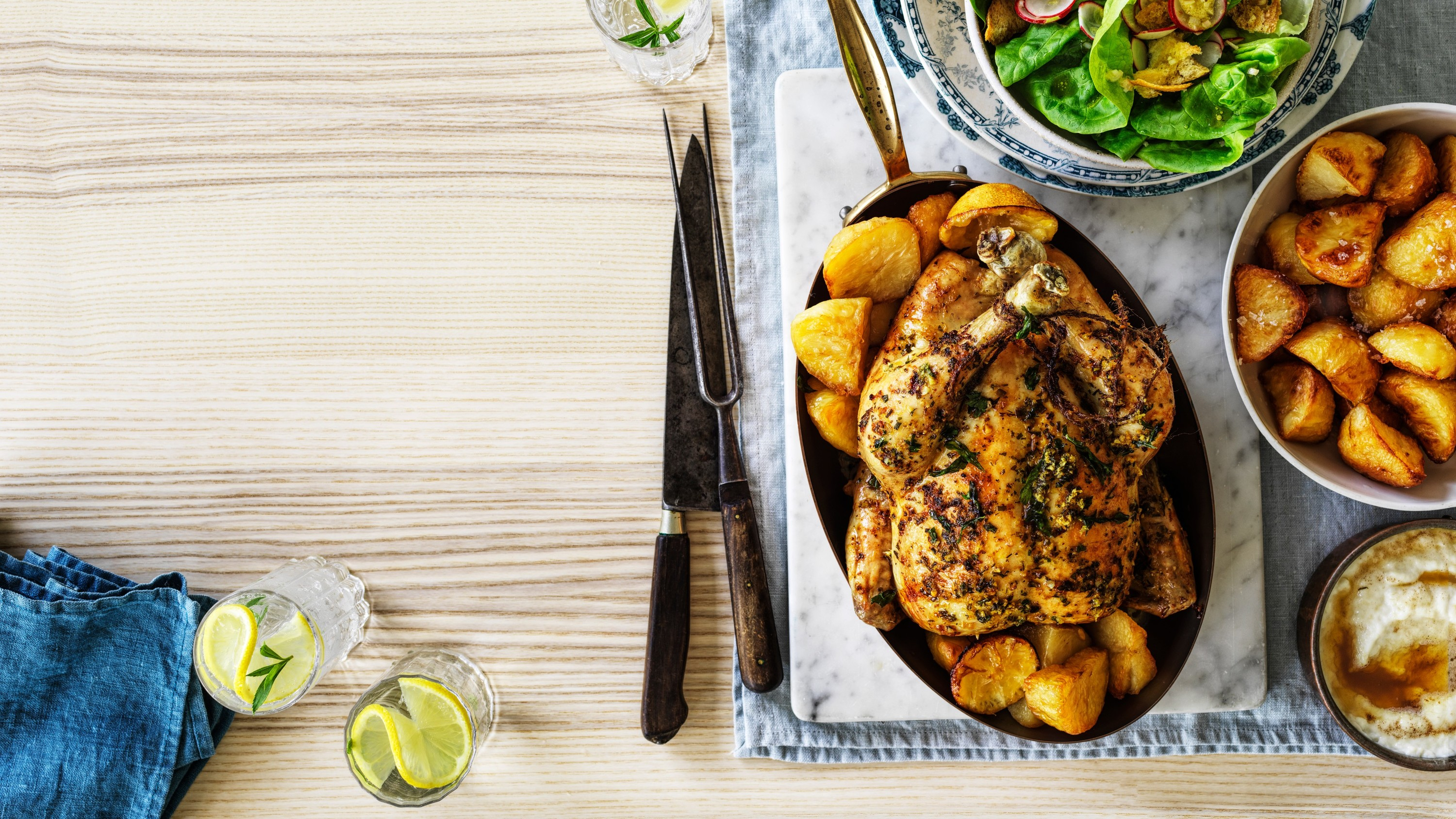 Make Matt Preston's roast chicken at home with a new winter dinner party box