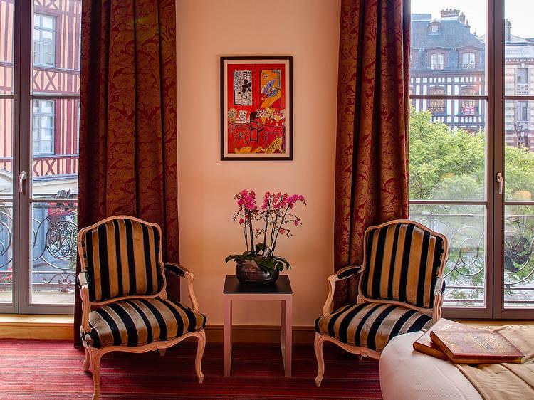 Crécher à l'hôtel de Bourgtheroulde, hôtel-spa 5 étoiles