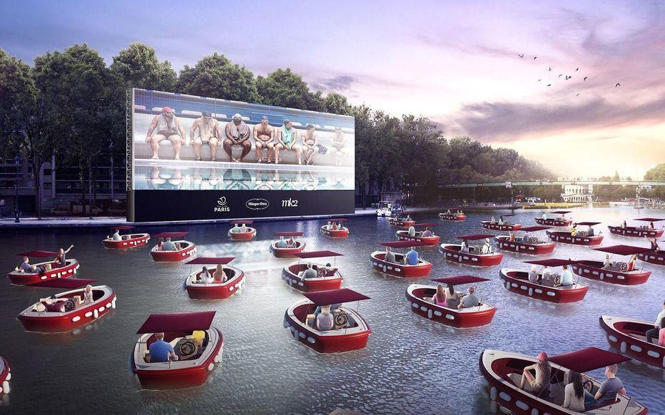 Un cinéma sur l'eau, une première à Paris  !