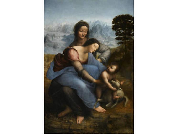 La Vierge à l'Enfant avec sainte Anne, Léonard de Vinci, c. 1503-1519