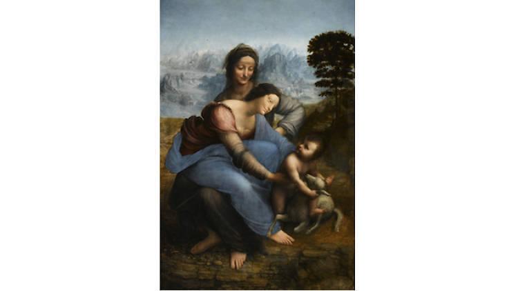 Photograph: Musée du Louvre Léonard de Vinci, 'La Vierge à l'enfant avec Sainte-Anne'