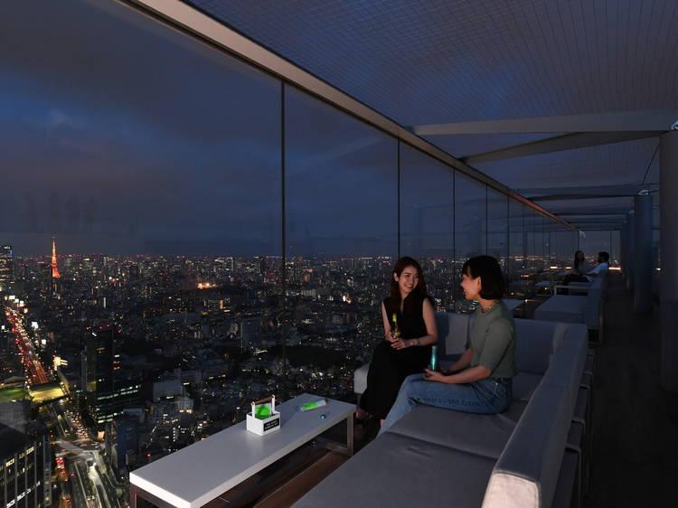 Shibuya Sky has opened a pop-up rooftop bar