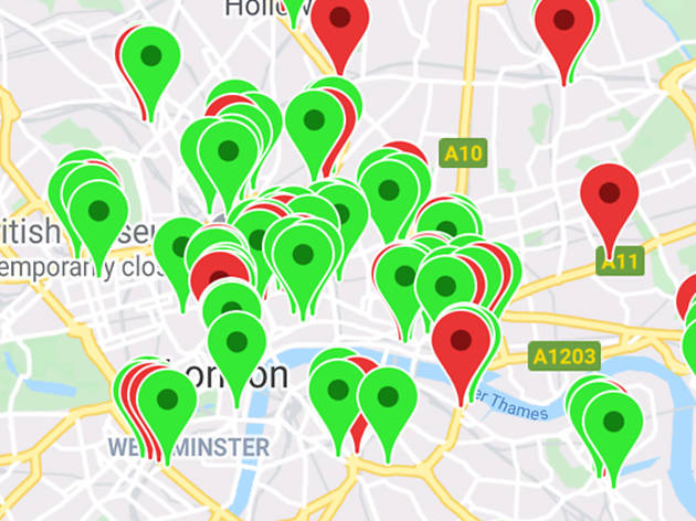 The 'Neverspoons' map shows you independent pubs near to Wetherspoons