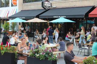 Cruz Blanca patio in the West Loop