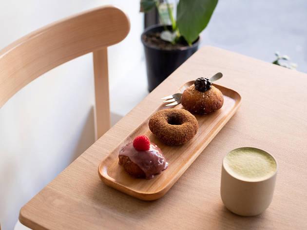 Comeco Foods Trio of donuts (Photograph: Daniel Boud)